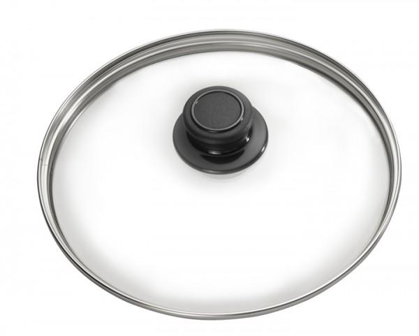 Sicherheitsglasdeckel mit Edelstahlrand rund